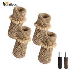 table leg floor protectors knitting wool furniture leg socks chair table leg protector pads