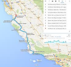 De Anza Map California Central Coast Missions Trail