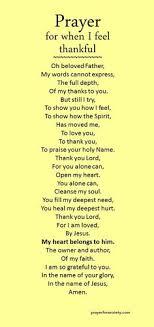 a prayer of thanksgiving to god faith