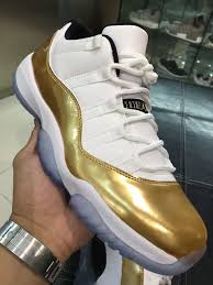 air jordan 11 low in white and gold for the summer lovely