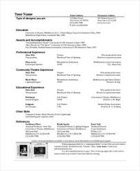 Acting Resume Creator by Fill In The Blank Acting Resume Template Http Resumesdesign