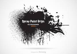 Font Spray Paint - free spray paint drips vector banner download free vector art