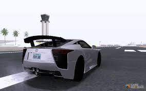 lexus lfa custom lexus lfa nürburgring performance package 2011 for gta san andreas