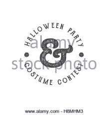 happy halloween logotype grunge stamp letters and scary elements
