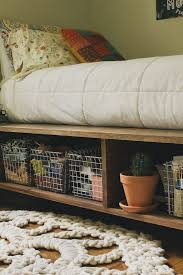 How To Build A Solid Wood Platform Bed by Best 25 Diy Storage Bed Ideas On Pinterest Beds For Small Rooms