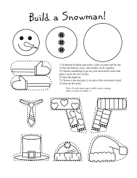 printable snowman coloring craft snowman craft winter