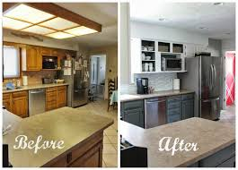 grey and white kitchen makeover stunning diy pictures before after
