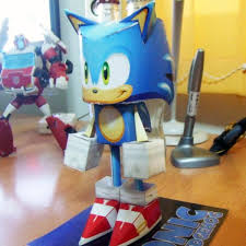 Sonic The Hedgehog Papercraft - sonic the hedgehog papercraft tektonten papercraft