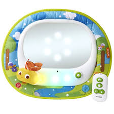 baby car mirror with light baby in sight car mirror brica firefly with led lights and music