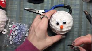 easy snowman ornament tutorial yarn wrapping no mess