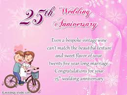 wishes 25 year with wishes 25th wedding anniversary wishes messages and wordings wordings