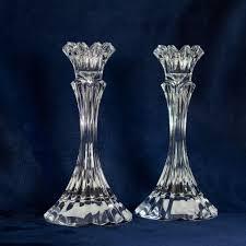 pair of vintage mikasa skyline crystal candle holders vt121 338