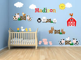Personalized Name Wall Decals For Nursery by Kids Room Wall Decals Farm Wall Decals Farm Animal Decals