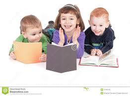 happy children reading kids books royalty free stock photo image