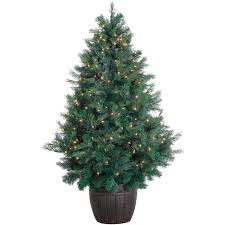 fraser hill farm 5 ft pre lit led northern cedar artificial