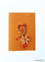 blank ninth birthday card quilled 9th birthday card kid