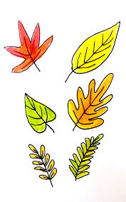 7 ways to draw fall leaves designs