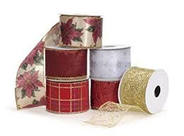 wire edged ribbon 12 assorted christmas wire edge ribbon rolls 2 5 by darice