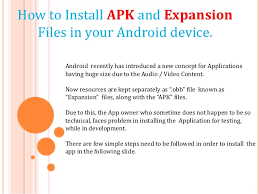 how to use apk files on android how to install apk and expansion file in android