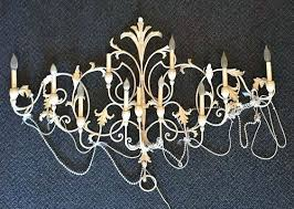 Birdcage Chandelier Shabby Chic Sconce Shabby Chic Rustic Clear Crystal 2 Light Candle Style