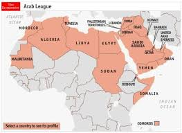 arab countries map leave a marc
