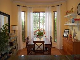 Dining Room Bay Window Treatments Curtains For Bay Windows In - Dining room with bay window
