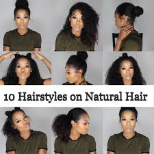 10 quick and easy hairstyles on natural hair 3b 3c youtube
