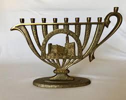 unique menorah jerusalem menorah etsy