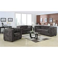 Chesterfield Sofa Set Pieces Charcoal Transitional Chesterfield Sofa Set