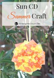 easy and fun summer cd sun craft with tissue paper
