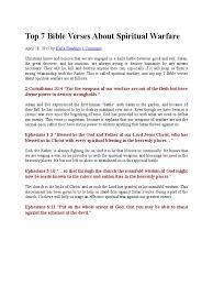 top 7 bible verses about spiritual warfare spiritual warfare satan