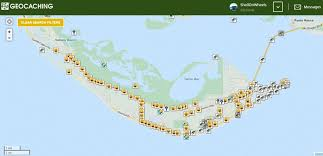 Geocache Map Geocaching Sanibel Island Shell On Wheels