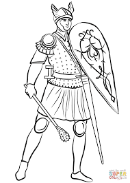 medieval soldier with mace coloring page free printable coloring