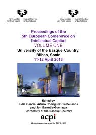 ecic 2013 volume one proceedings of the 5th european conference on