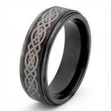 titanium celtic wedding bands mens black titanium celtic ring wedding band size size 3 18