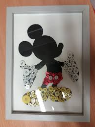 how to make disney button art disney framed silhouette