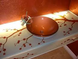 Glass Bathroom Sinks And Vanities Bathroom Vanity Glass Vessel Sink Vanities Sans Soucie Glass