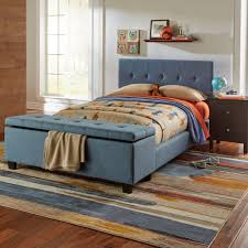 fashion bed group henley denim blue full headboard and footboard