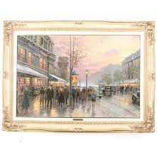 thomas kinkade giclee print on canvas