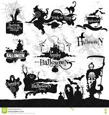 halloween friday 13 horror party decorations set stock vector