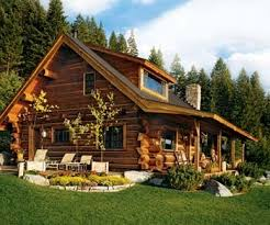 small log home love the sloping roof my future home pinterest