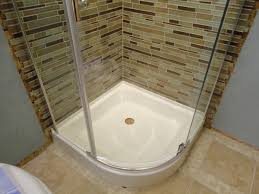 prosto 32 x 32 round shower enclosure kit with hinged doors and