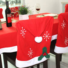 santa hat chair covers high quality flannel christmas chair cover santa claus decoration