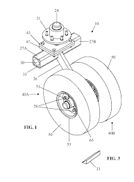 patent us7832745 single caster wheel assembly for trailer