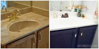 refinish bathroom sink top painted bathroom sink tutorial before and after i m flying south