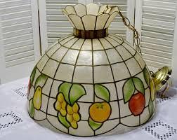 Glass Fruit Chandelier by Capiz Chandelier Etsy