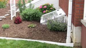 garden design with decorative landscape borders white edging