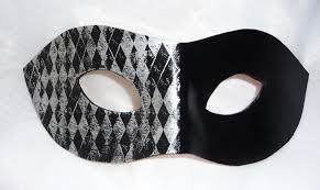 unique masks genuine handmade unique embellished black silver half harlequin
