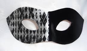 unique masks genuine handmade unique embellished black silver half harlequin