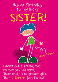 funny birthday cards for sister funny birthday card for sister